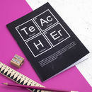 Chalkboard Teacher Periodic Table Notebook