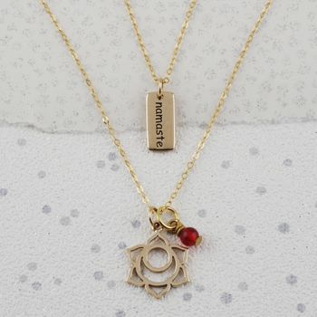 Sacral Chakra Necklace In Gold Or Silver