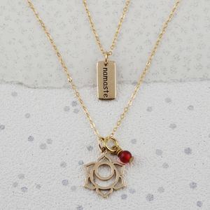 Sacral Chakra Necklace In Gold Or Silver - july birthstone