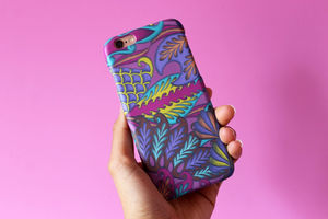 Pink Tropical Pattern iPhone Case