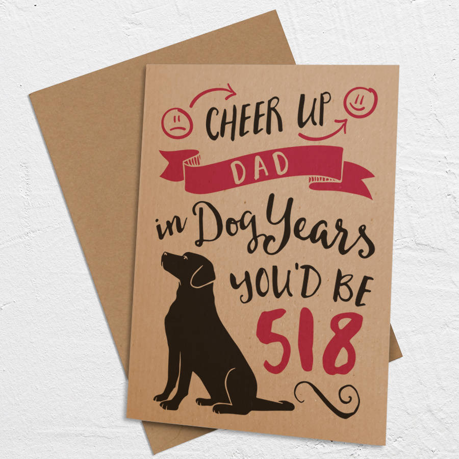 Dog Years Birthday A6 Size Card By Well Bred Design