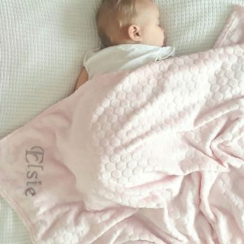 Personalised Pink Baby Girl Fleece Blanket