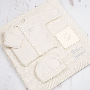 Baby Unisex Cream Bubble Knitted Gift Box - clothing