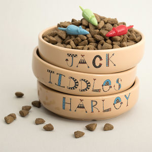 Personalised Cat Bowl - bowls & mats