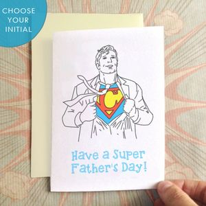 Personalised Heroic Dad Father's Day Card - cards & wrap