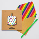 Handmade Spotty Birthday Cake Personalised Card