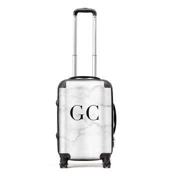 Personalised Marble Suitcase