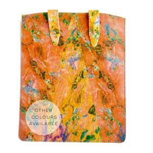 'Neon Marble' Leather iPad Tablet Case