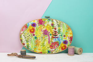Liberty Print Embroidery Hoop Art - nature & landscape