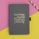 Personalised 'Good Morning' Notebook