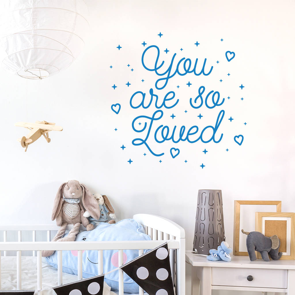 You Are So Loved Inspirational Quote Wall Decal Sticker Part 49