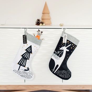 Personalised Scandi Style Christmas Stocking 50% Sale
