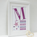 Personalised 'He Is/She Is' Framed Print