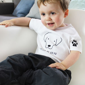 Personalised Dog Babygrow Or T Shirt - summer sale