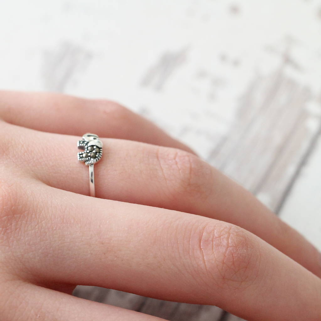 sterling silver little elephant ring by attic | notonthehighstreet.com