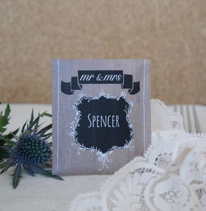 Name Crest Tea Wedding Favour