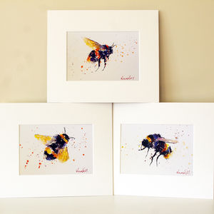 Bee Prints, Bee Happy Collection - paintings