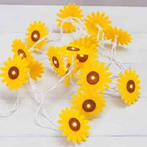 Sunflower Felt String Lights