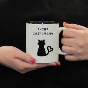 Crazy Cat Lady Personalised Mug - mugs