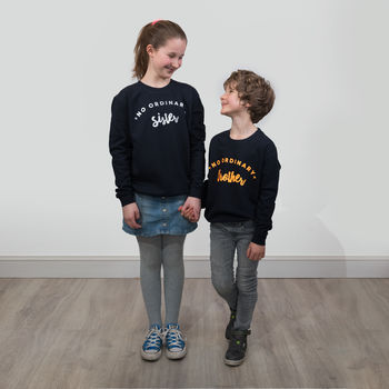 Children's Sweatshirts No Ordinary Brother/Sister