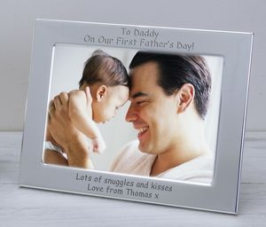 First Father's Day Silver Plate Frames - home accessories