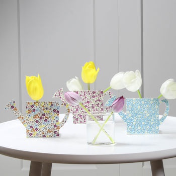 Floral Watering Can Vase Set