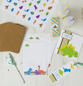 Personalised Dinosaur Stationery Bundle