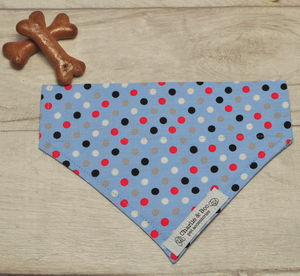 Blue Dog Bandana For Girl Or Boy Dogs