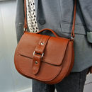 Handcrafted Tan Leather Saddle Bag