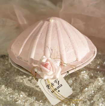 Personalised Seashell Wedding Or Party Favour Boxes