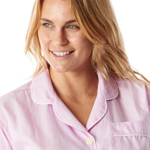 Pretty Pink Gingham Cotton Ladies Pyjamas
