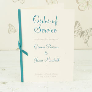 Classic Wedding Order Of Service A5 Booklet - order of service & programs