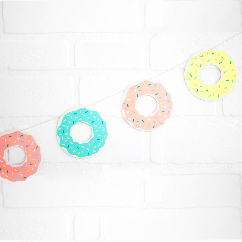 Doughnut Party Bunting Decoration