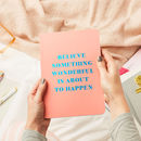 Any Text Live Bright Foiled Notebook