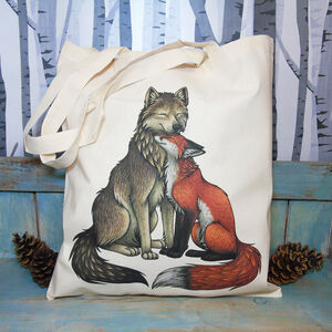 Wolf And Fox Fairtrade + Organic Eco Tote Bag