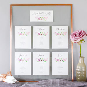 Midsummer Table Plan And Table Number Cards - table plans