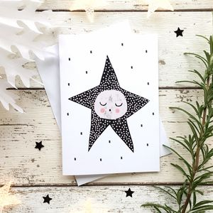 Sleepy Star Greeting Card - cards