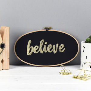 'Believe' Wall Art Sign