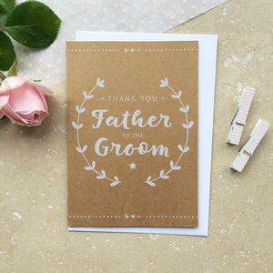 Father Of The Groom Thank You Cards