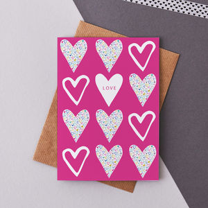 'Love' Greetings Card - winter sale