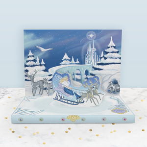 The Snow Queen Music Box Card - christmas cards