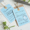 Location Luggage Tag Vintage Style Save The Date