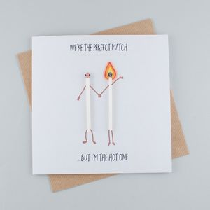 We're The Perfect Match Greeting Card - what's new