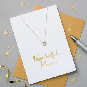 'Wonderful Mum' Card And Necklace - necklaces & pendants
