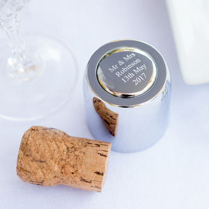 Personalised Silver Champagne Stopper - drink & barware