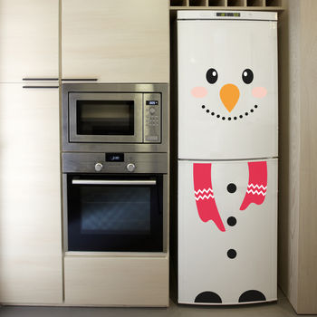 Christmas Snowman Fridge Sticker