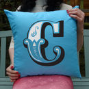 Personalised Initial Coloured Cushion
