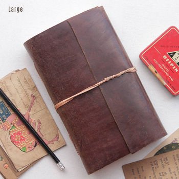 Personalised Handbound Leather Journal