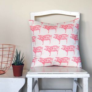 Small Square Pig Cushion - patterned cushions