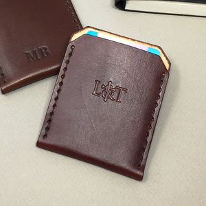 Personalised Leather Card Holder - wallets & money clips
